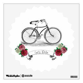 """El vintage """"nos dejó montar"""" la bici vinilo adhesivo"""
