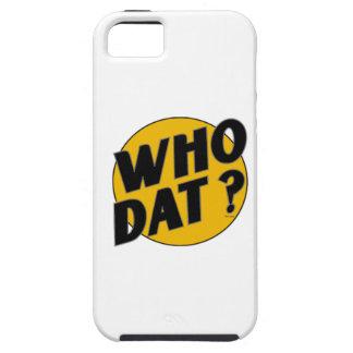 """¿El vintage original """"quién Dat? """" iPhone 5 Funda"""