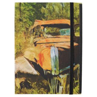 El vintage oxidado coge el extracto del camión