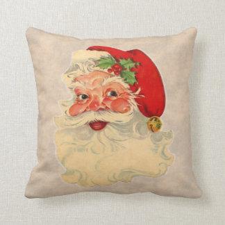 El vintage Papá Noel hace frente a la almohada