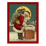 El vintage Papá Noel juega navidad Postal