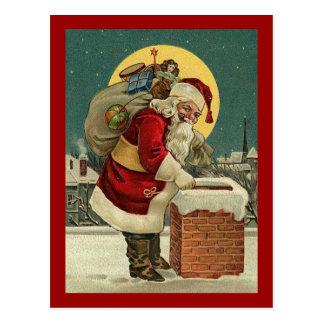 El vintage Papá Noel juega navidad Tarjetas Postales