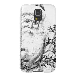 ¡El vintage Papá Noel viene a través de la puerta! Fundas De Galaxy S5