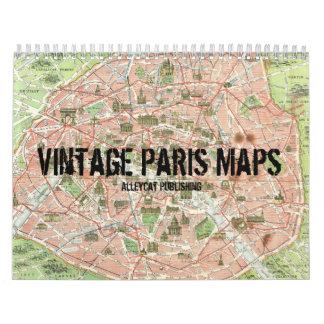 El vintage París traza el calendario