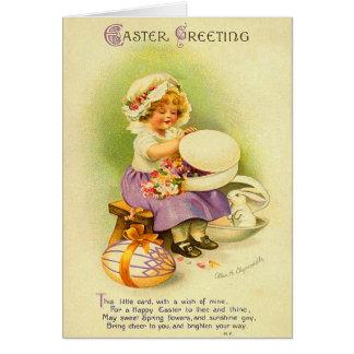 El vintage Pascua embroma la tarjeta