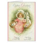 El vintage Pascua que le saluda hace la tarjeta