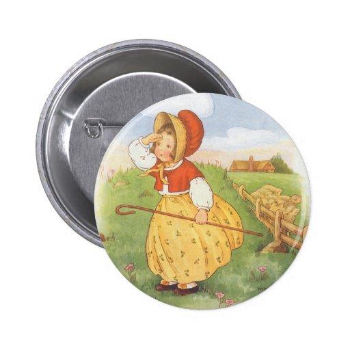 El vintage pequeña BO mira furtivamente poesía Pin Redondo 5 Cm