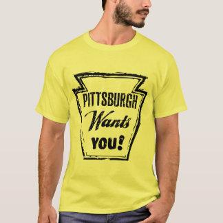 El vintage Pittsburgh retra le quiere camisa punky