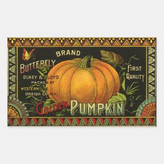 El vintage puede etiquetar el arte, verdura de la pegatina rectangular