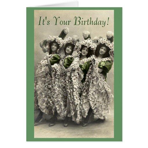 El vintage puede poder la tarjeta de cumpleaños de