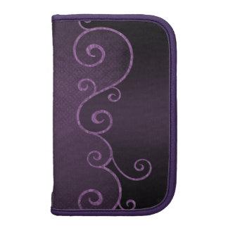 El vintage púrpura gótico remolina planificador en