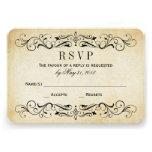 El vintage que casa RSVP carda el Flourish elegant Invitación