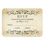 El vintage que casa RSVP carda el Flourish Invitación