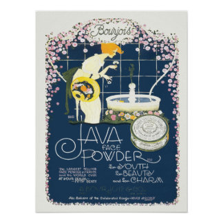 El vintage que hace publicidad de Java hace frente Póster