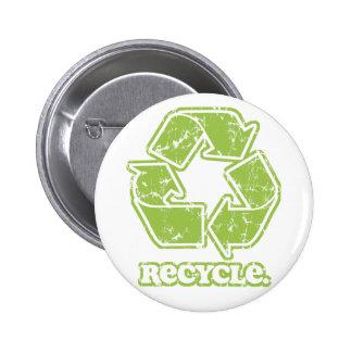 El vintage recicla el botón redondo de la muestra pin