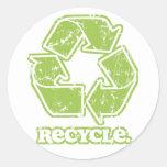 El vintage recicla la muestra etiquetas redondas