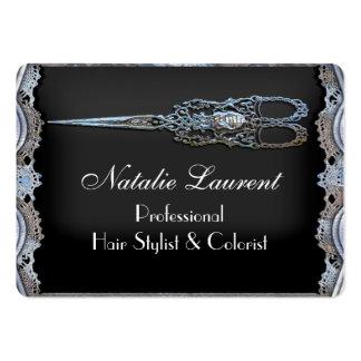 El vintage redondo elegante escarpado Scissor al Tarjetas De Visita Grandes