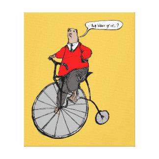 El vintage refiere la bicicleta del comino del lienzo envuelto para galerías