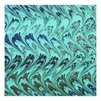 El vintage remolina las ondas de verde salvia cuadro