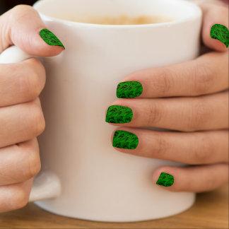 El vintage remolina las ondas verdes pegatinas para manicura
