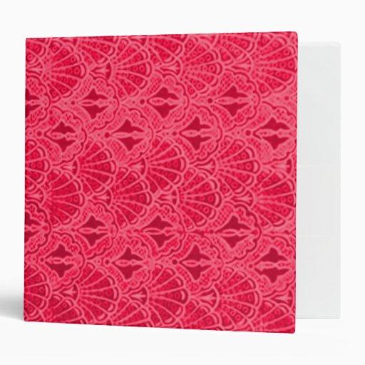 El vintage retro descasca la carpeta roja coralina