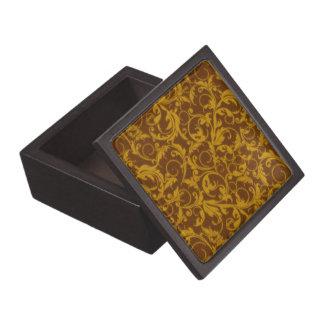 El vintage retro remolina caja de regalo de Brown  Caja De Regalo De Calidad