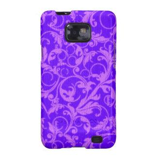 El vintage retro remolina casamata púrpura galaxy SII fundas