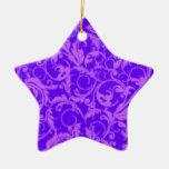 El vintage retro remolina ornamento púrpura adornos