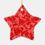 El vintage retro remolina ornamento rojo de la adorno de reyes