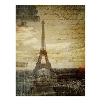 el vintage retro scripts la moda de la torre de Pa Tarjeta Postal