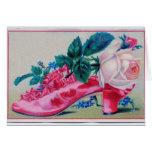 El vintage riza la tarjeta del día de madre del za