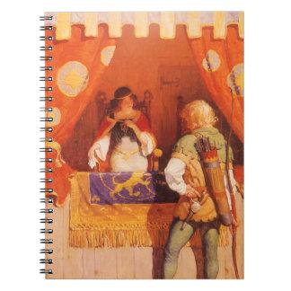 El vintage Robin Hood encuentra a la criada Libro De Apuntes Con Espiral