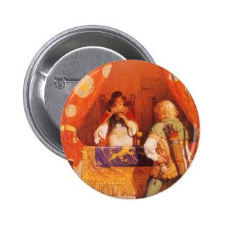 El vintage Robin Hood encuentra a la criada Pin Redondo De 2 Pulgadas