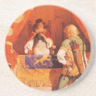 El vintage Robin Hood encuentra a la criada Posavasos Personalizados