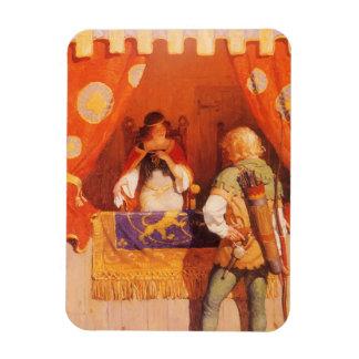 El vintage Robin Hood encuentra a la criada Rectangle Magnet