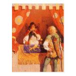 El vintage Robin Hood encuentra a la criada Tarjetas Postales