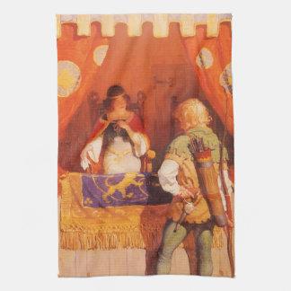El vintage Robin Hood encuentra a la criada Toalla De Mano