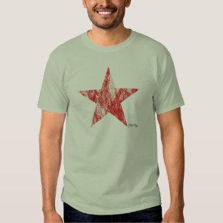 El vintage rojo de la estrella del corredor del playeras