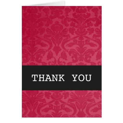 El vintage rojo le agradece tarjeta del fondo