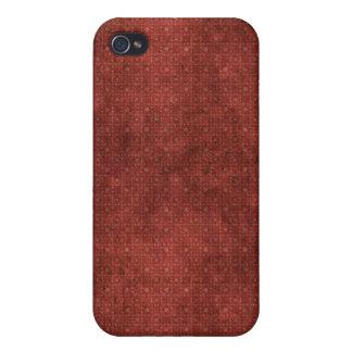 El vintage rojo puntea el caso del iPhone 4 iPhone 4 Fundas