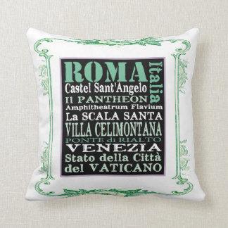 el vintage Roma italiana palidece - la almohada