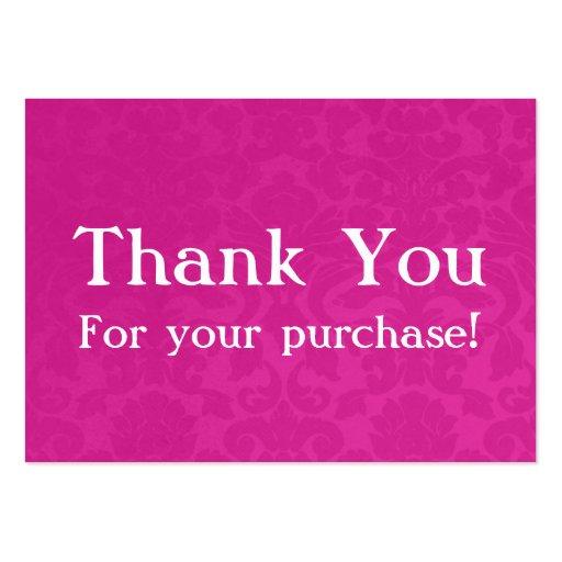 El vintage rosado le agradece por sus tarjetas de  tarjeta personal