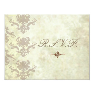 """El vintage RSVPs requiere invitaciones del boda Invitación 4.25"""" X 5.5"""""""