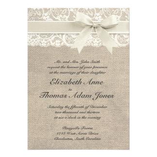 El vintage rústico inspiró la invitación del boda