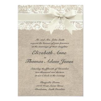El vintage rústico inspiró la invitación del boda invitación 12,7 x 17,8 cm