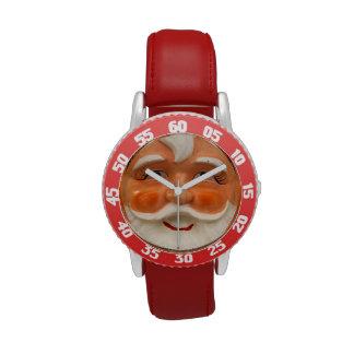 El vintage santa hace frente reloj