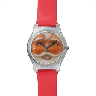 El vintage santa hace frente relojes