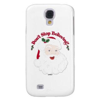 ¡El vintage Santa no para el creer! Funda Para Galaxy S4