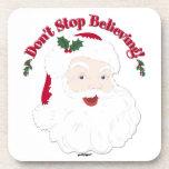 ¡El vintage Santa no para el creer! Posavasos De Bebidas