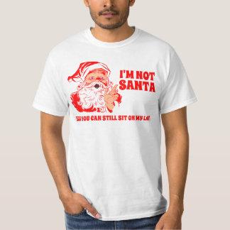 El vintage Santa, se sienta en el revestimiento de Remeras